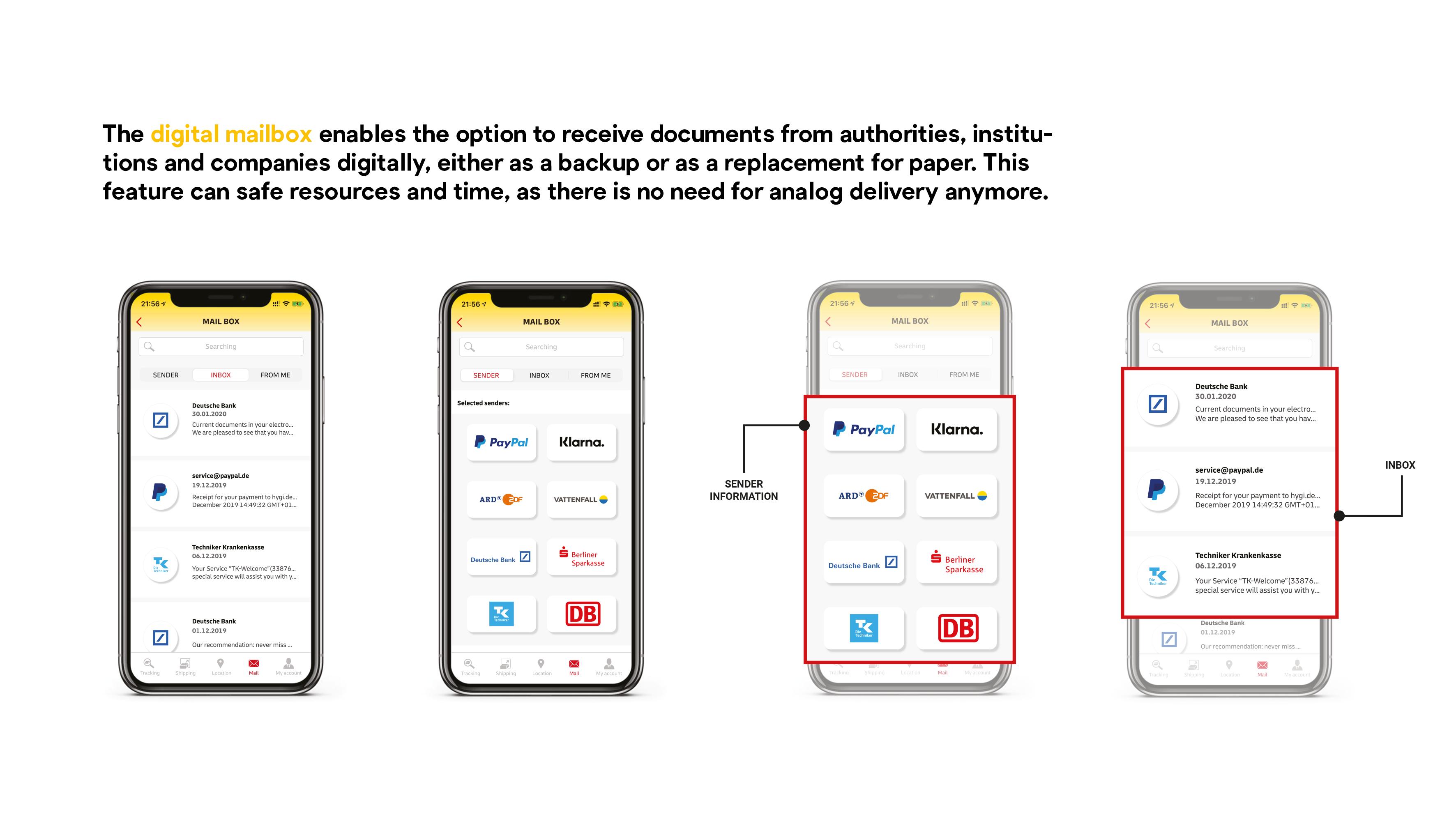 Deutsche Post / DHL App Prototype